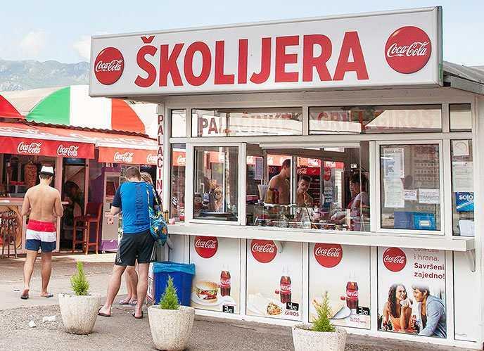 Уличная еда в Черногории