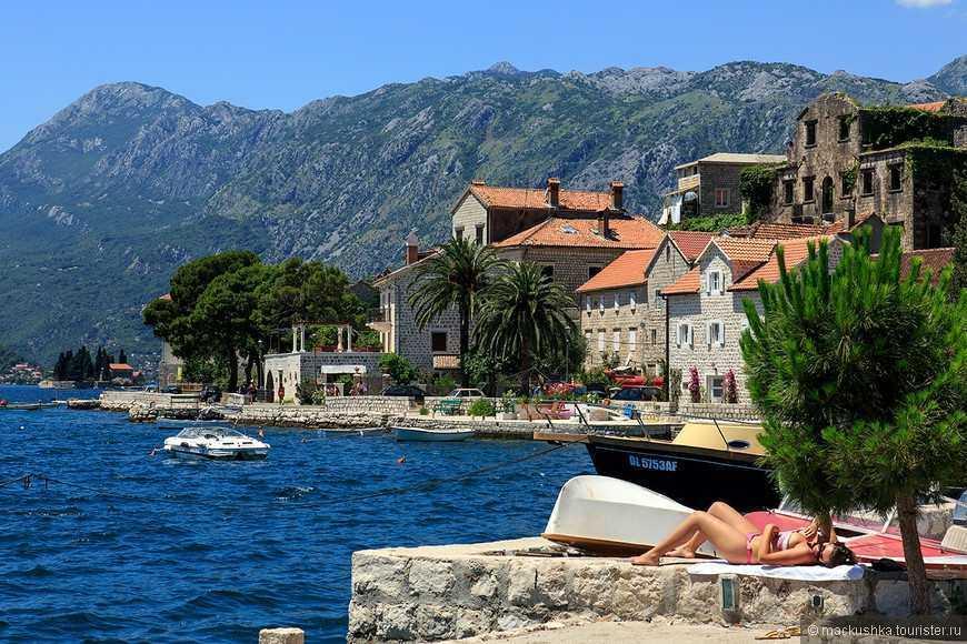 Perast Beach - Пляж Пераста в Черногории