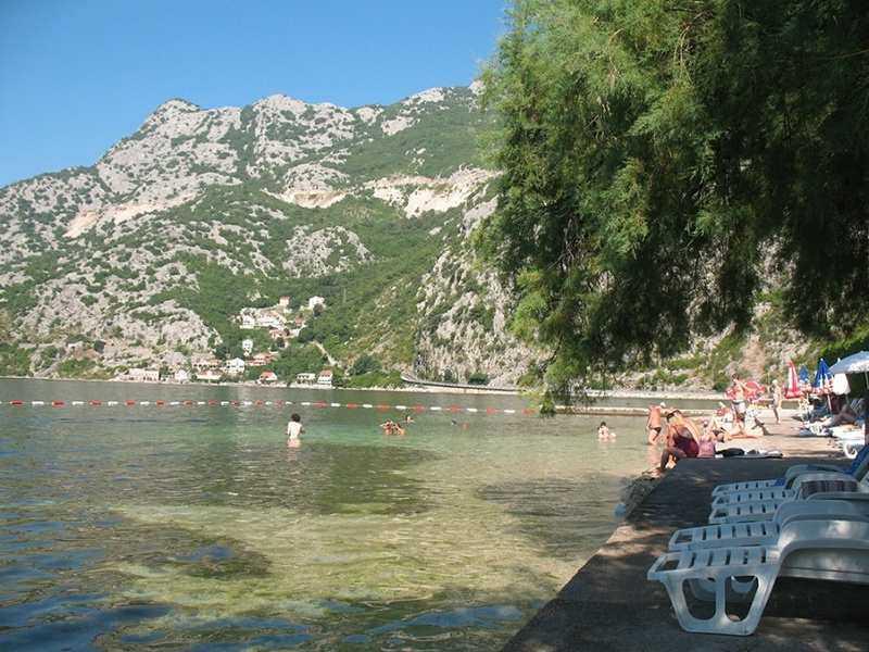 Risan banja - Пляж Рисан в Черногории