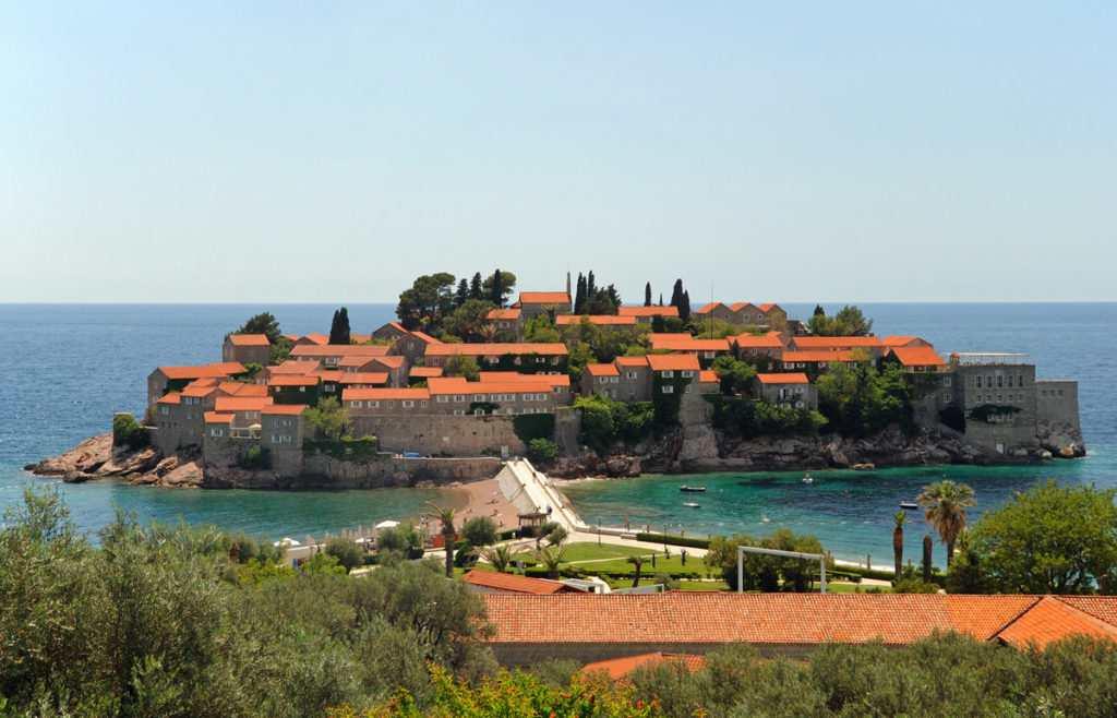 Отель на острове Святой Стефан