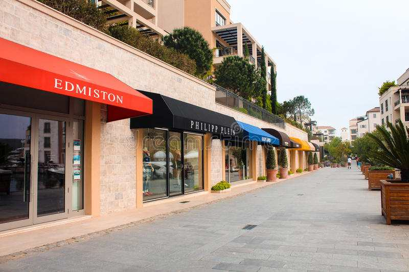 shopping street tivat expensive shops famous brands 72486868 - Шопинг в Тивате